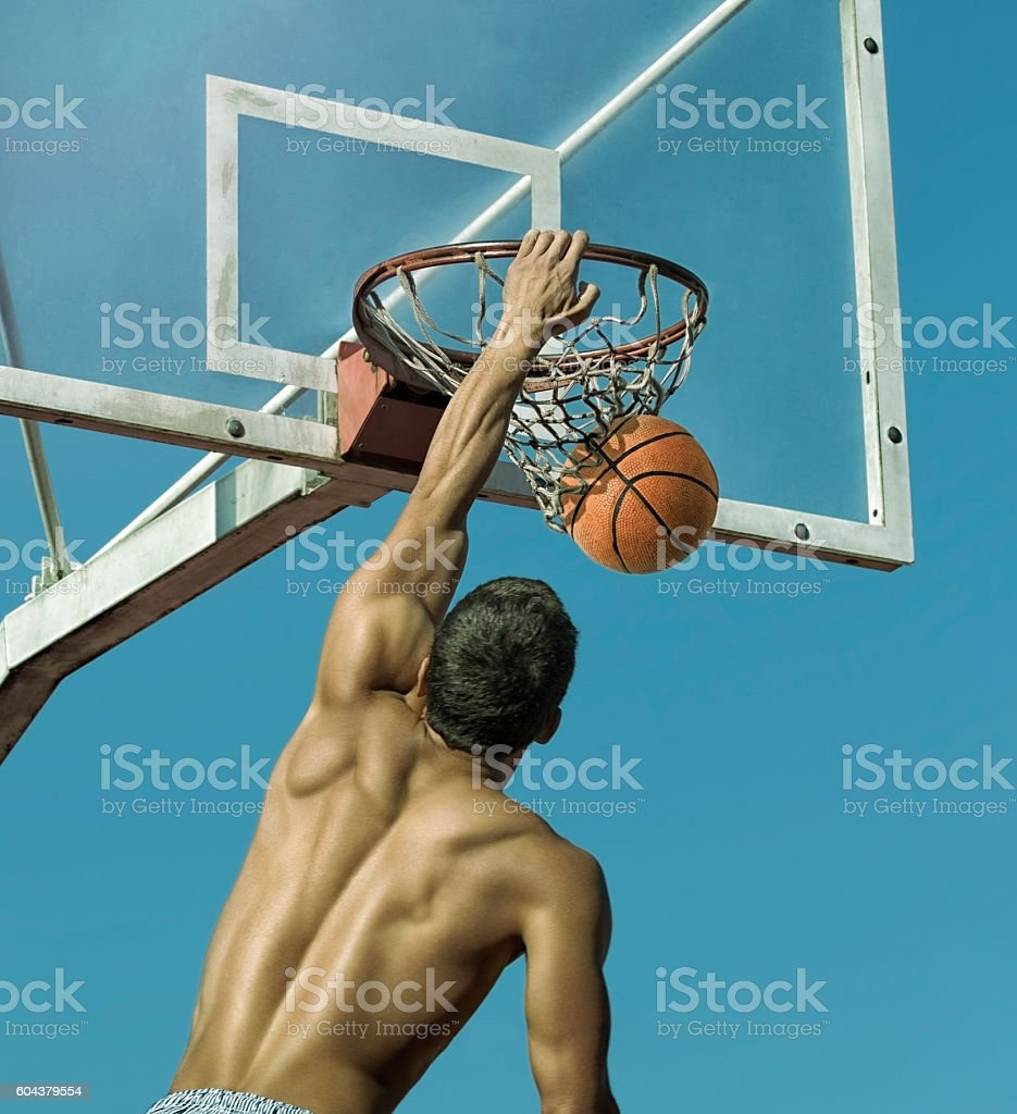 Sport. Basketball player in action stock photo