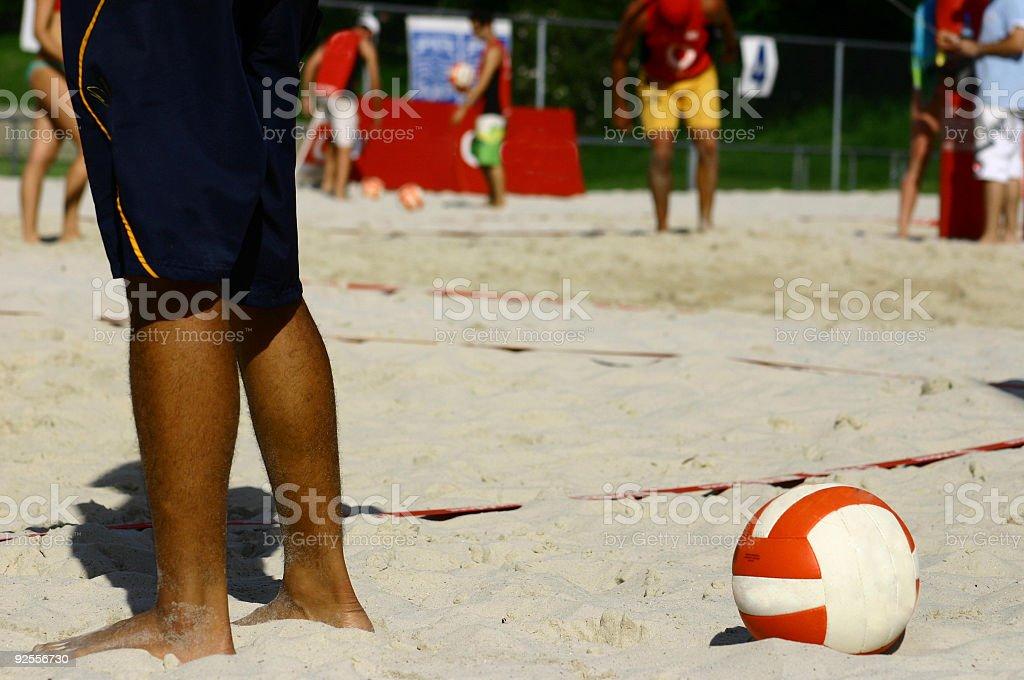 Sport Beach Volleyball stock photo