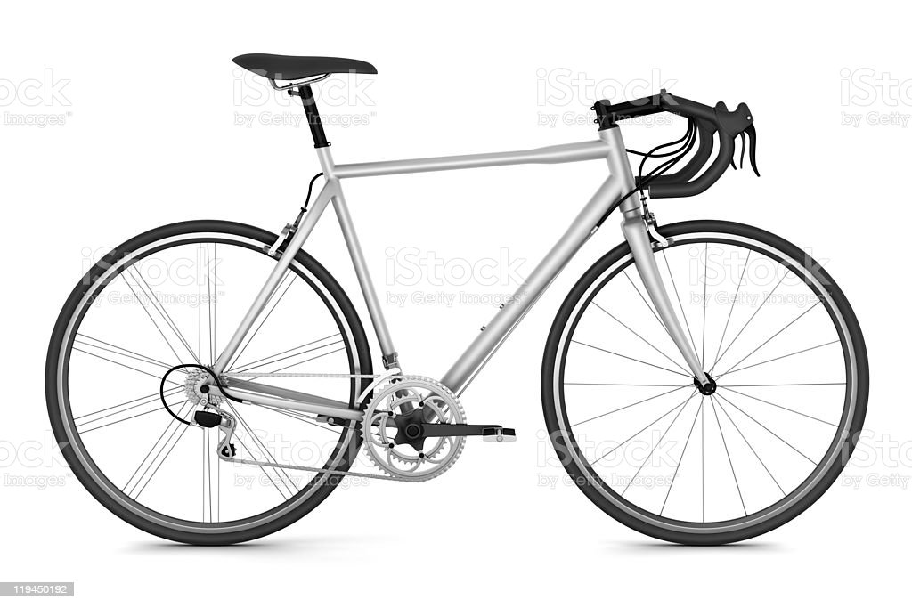 sport bicycle isolated on white background stock photo