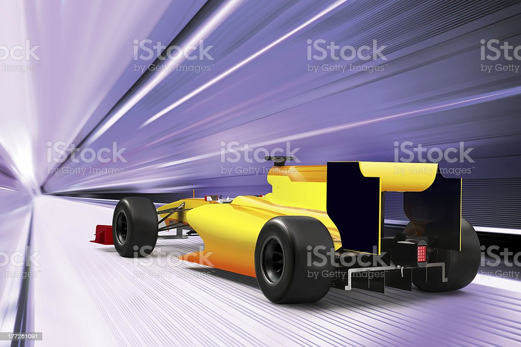 sport car on high speed road stock photo