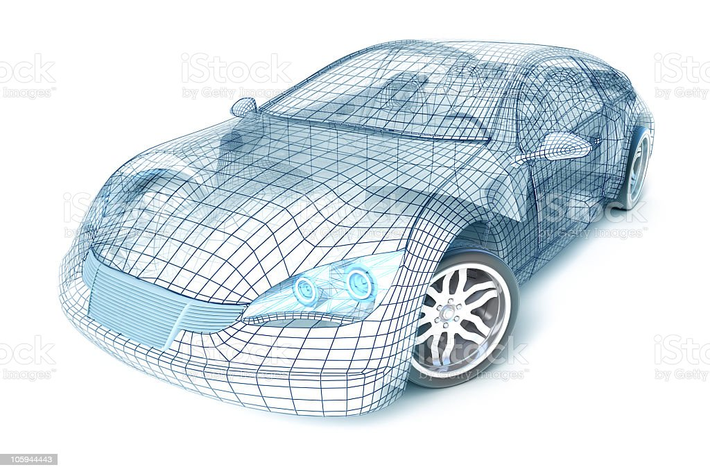 Sport Car Wireframe stock photo