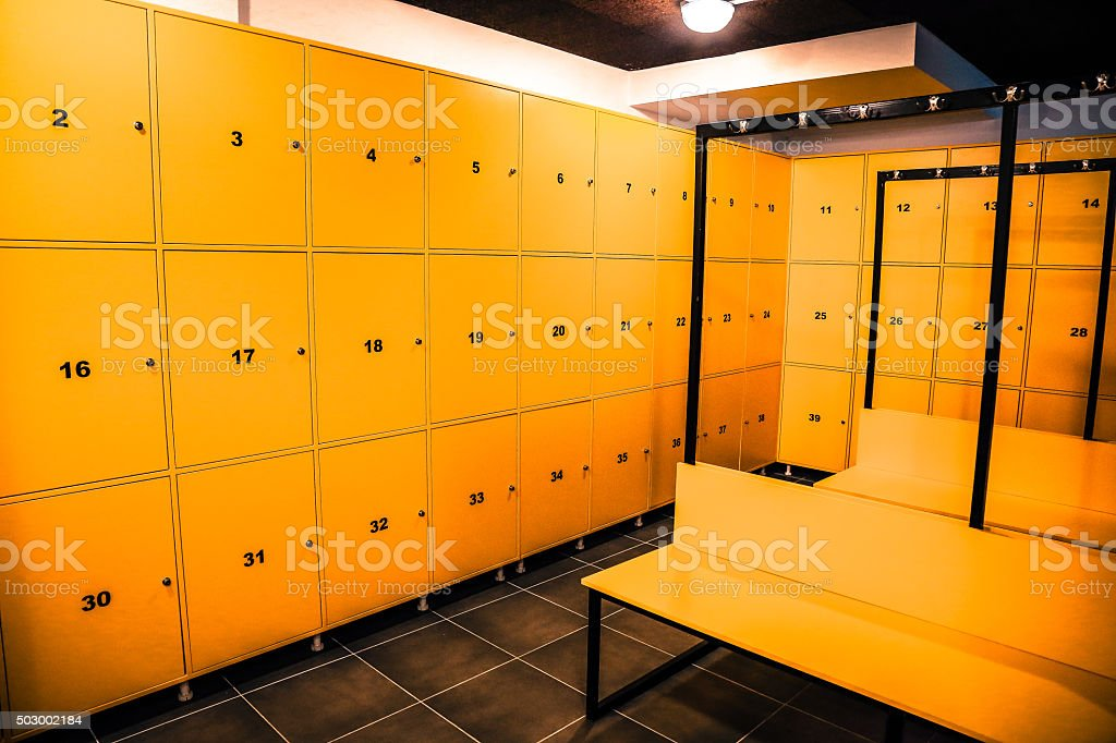 Sport centers locker room stock photo