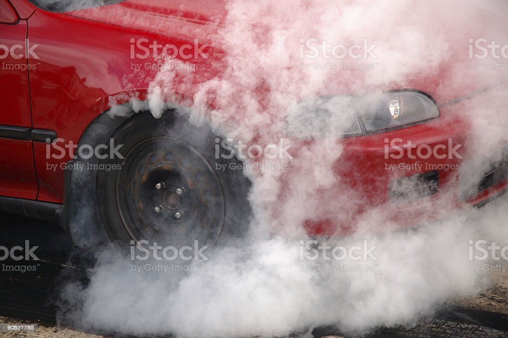 Sport Compact Burnout royalty-free stock photo