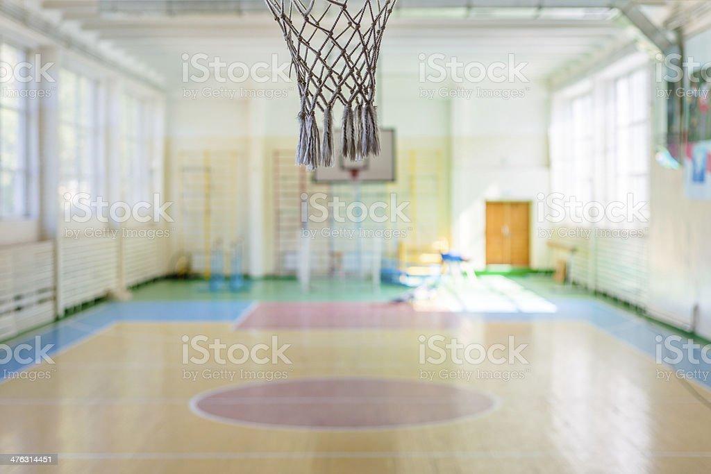 Sport complex in Russian school stock photo