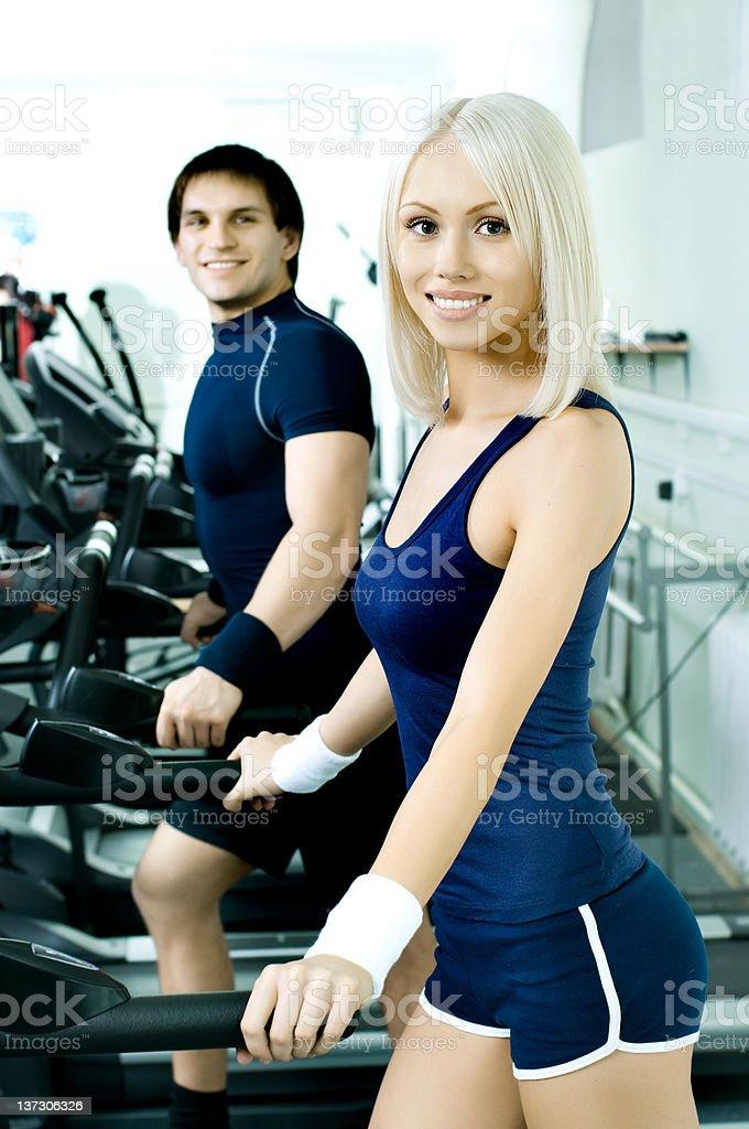sport couple royalty-free stock photo