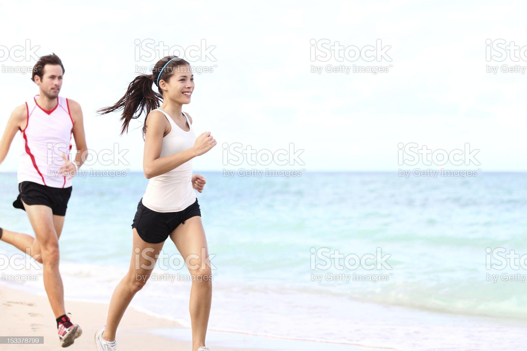 sport - couple running royalty-free stock photo