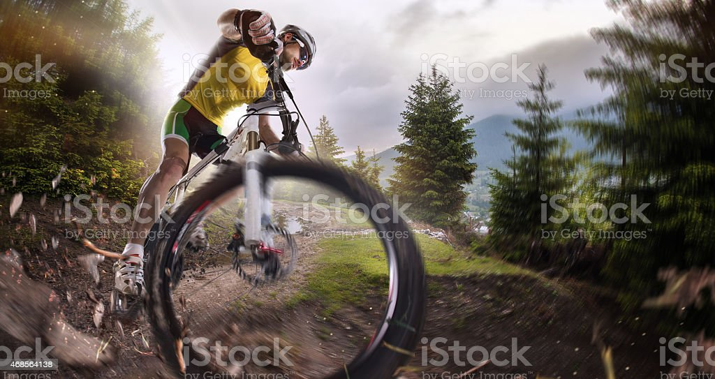 Sport. Cyclist stock photo