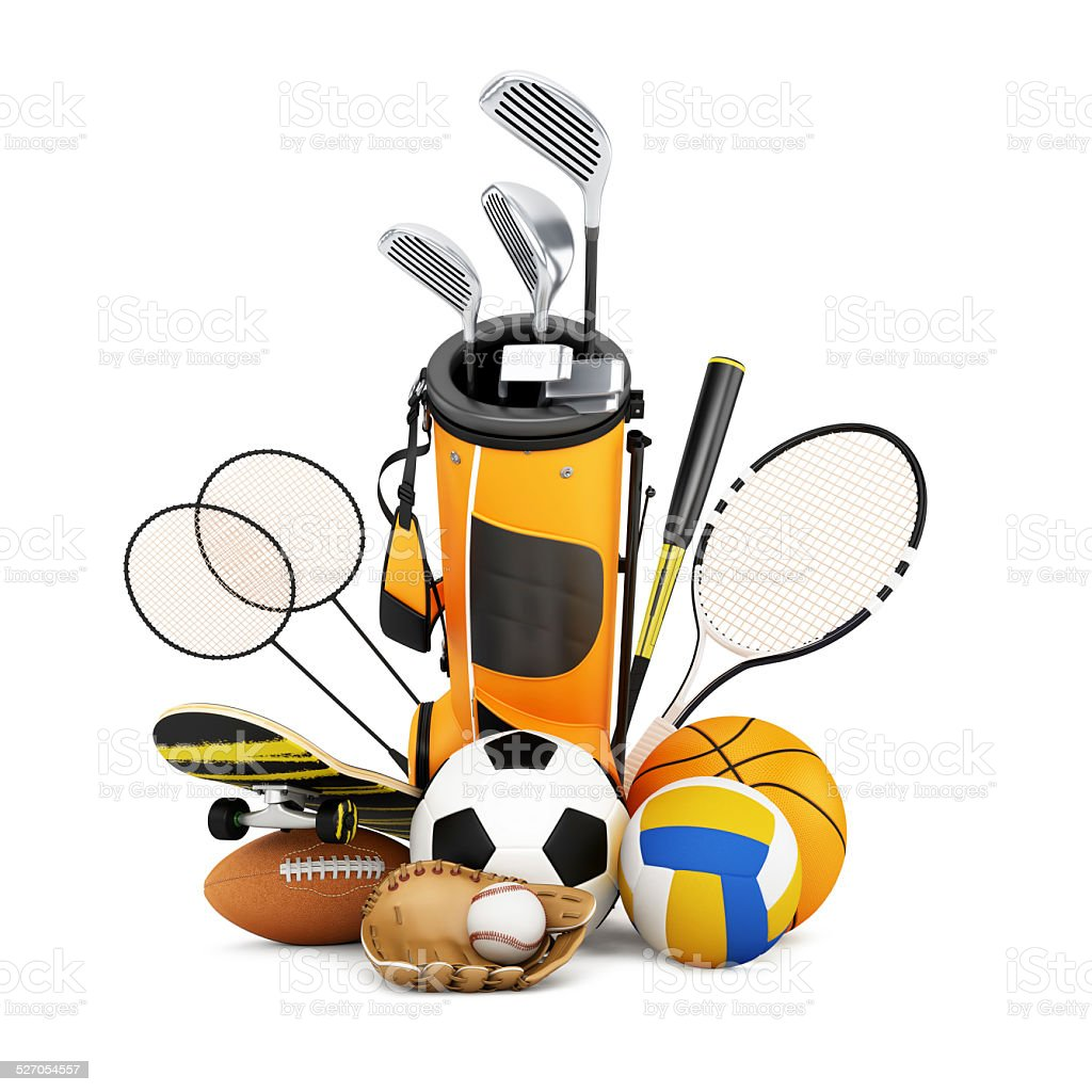Sport equipment  collection stock photo