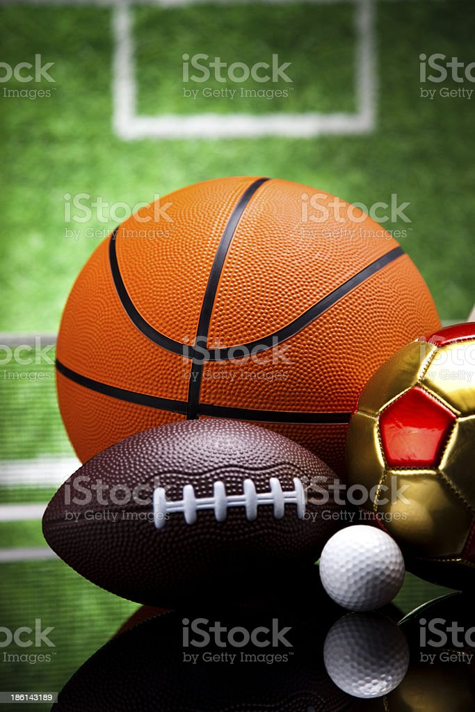 Sport Equipment, Soccer,Tennis,Basketball royalty-free stock photo