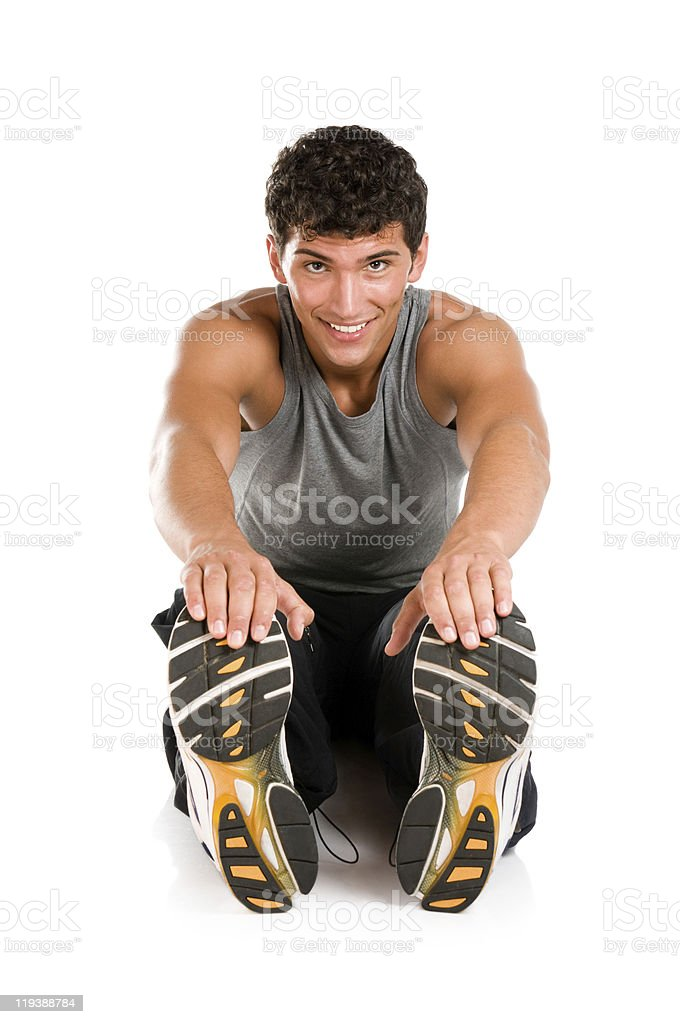 Sport exercises isolated royalty-free stock photo