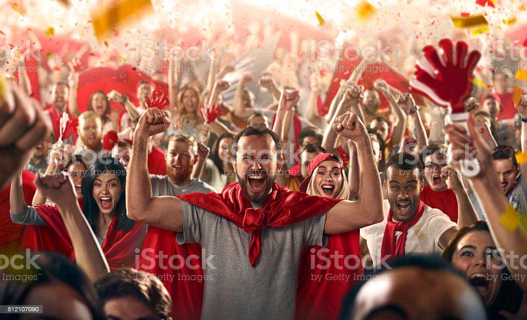 Sport fans stock photo
