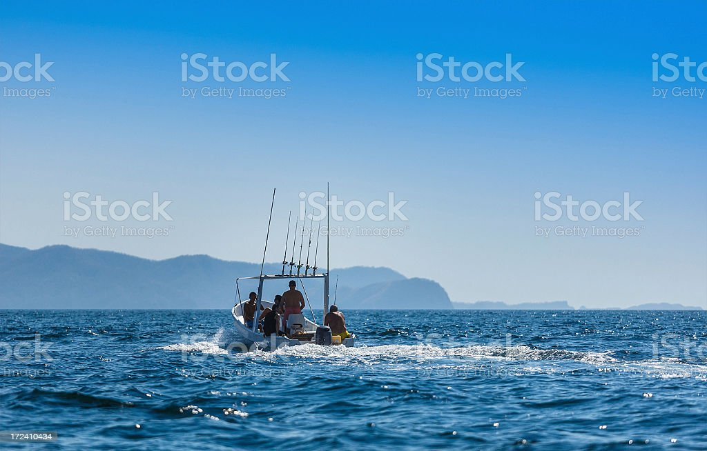 sport fishing boat in costa rica royalty-free stock photo