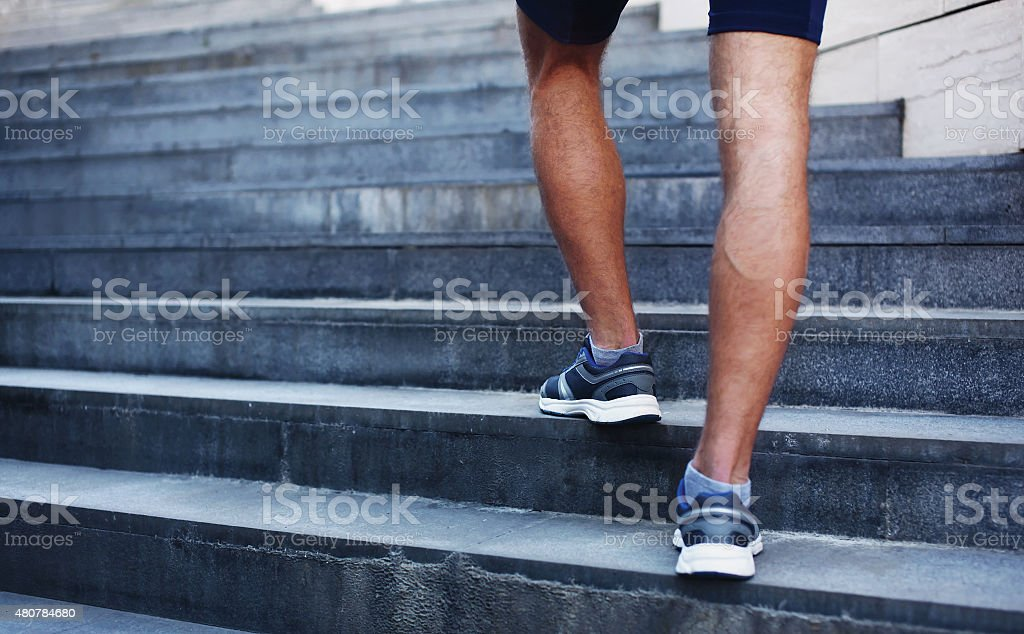 Sport, fitness and healthy lifestyle concept - man running stock photo