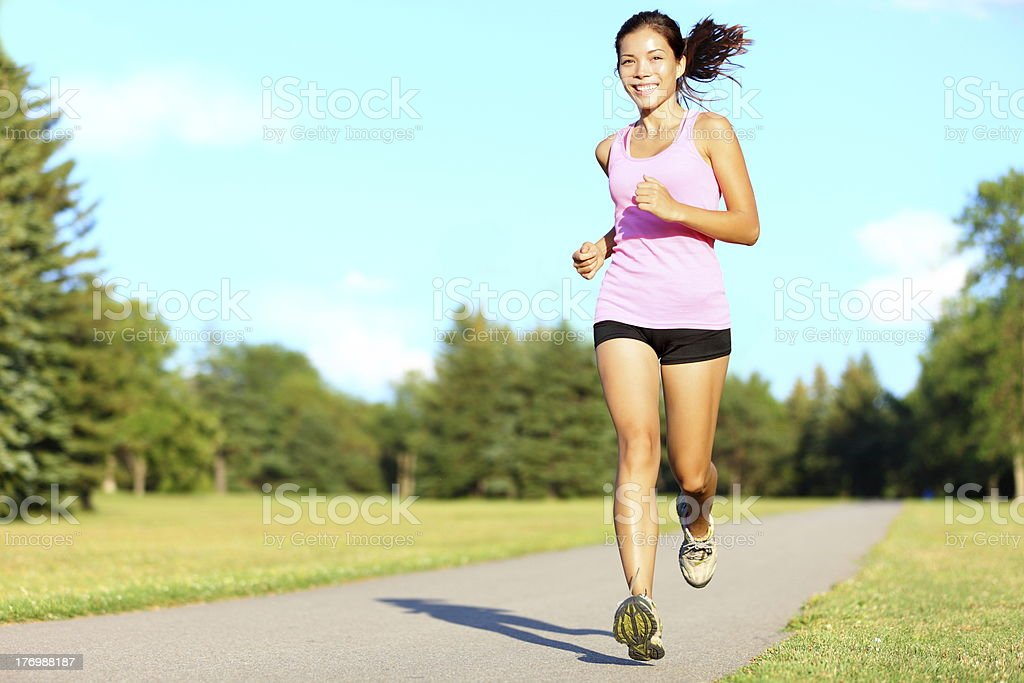 Sport fitness woman running royalty-free stock photo