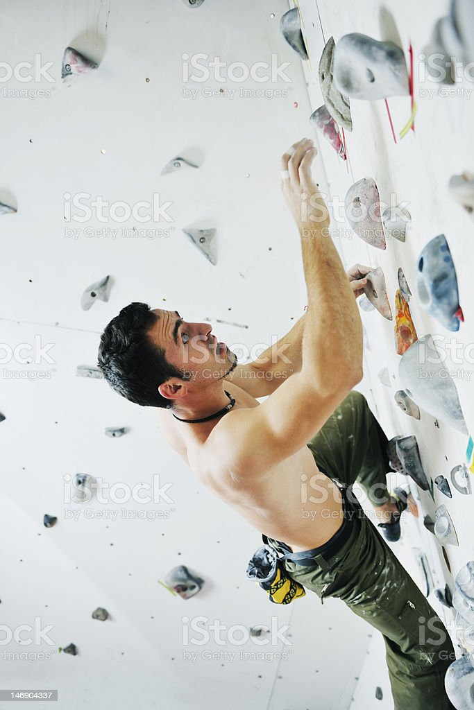 sport free climbing royalty-free stock photo