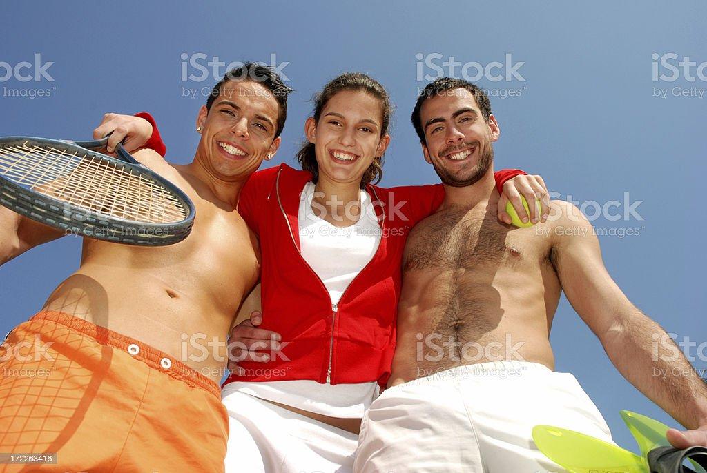 Sport friends royalty-free stock photo