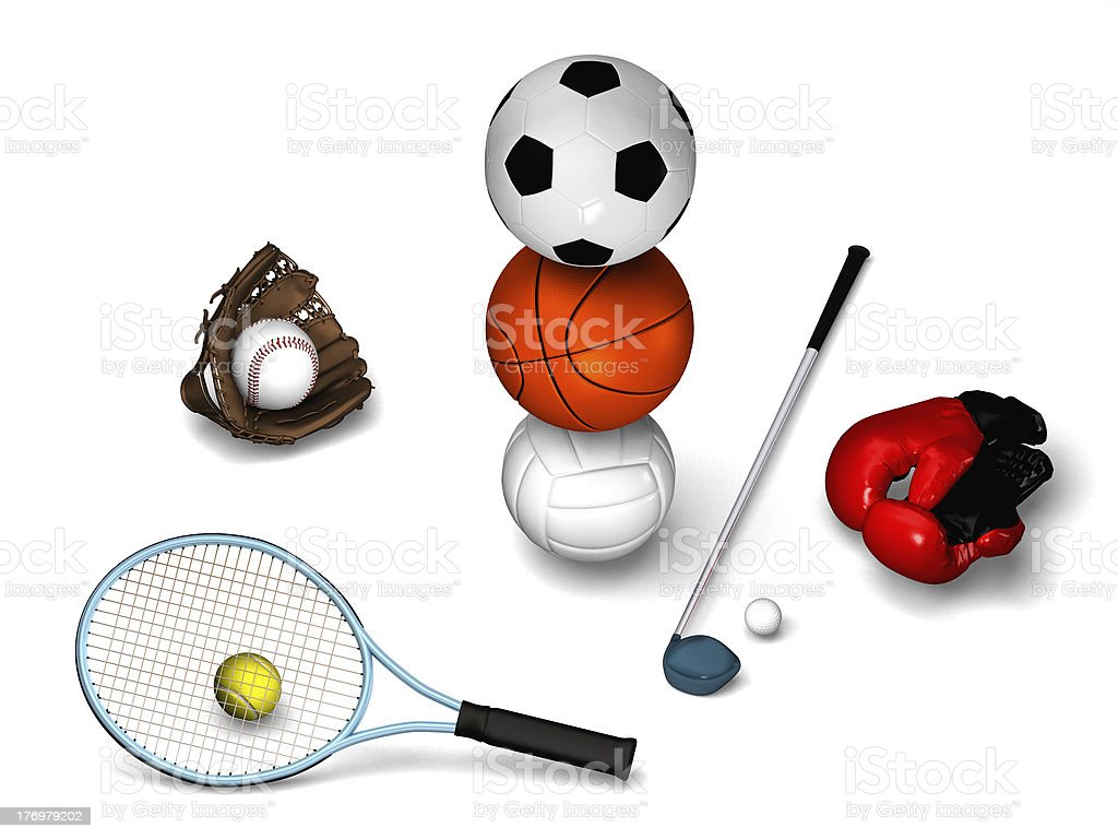 Sport furnitures with a white background royalty-free stock photo