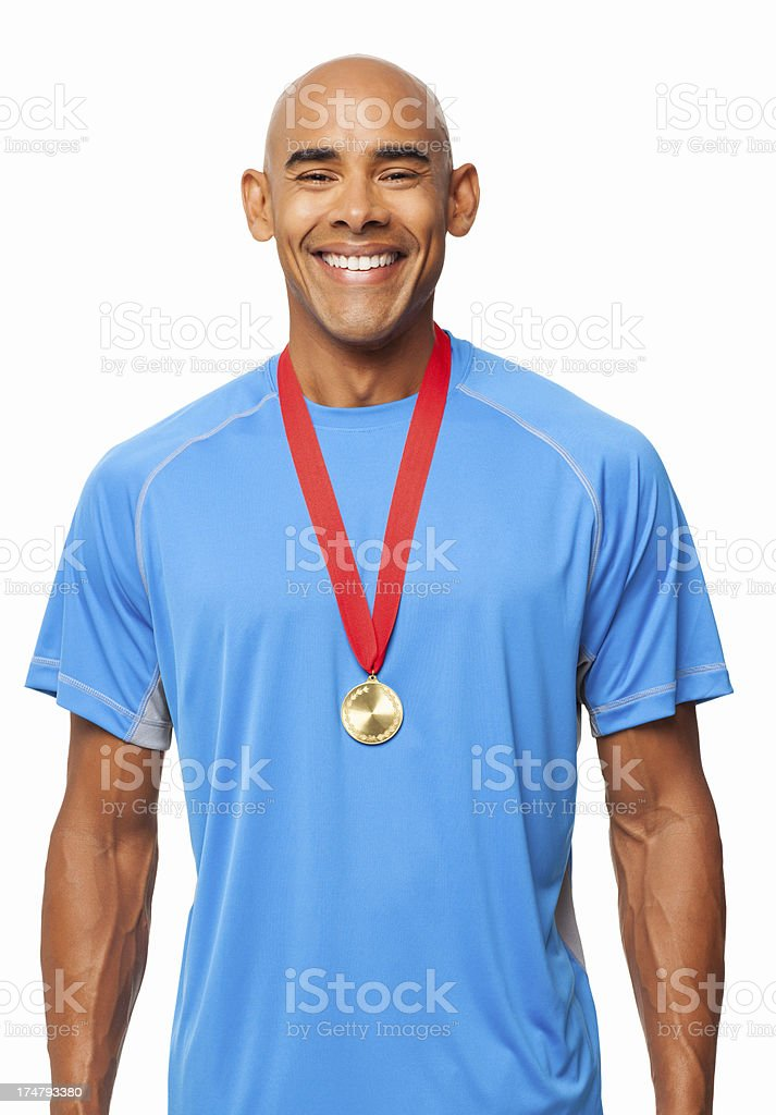 Sport Gold Medalist - Isolated royalty-free stock photo