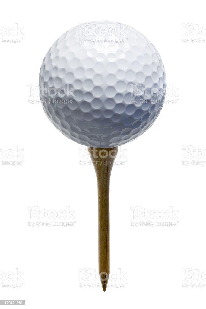 Sport: Golf Ball on Tee royalty-free stock photo