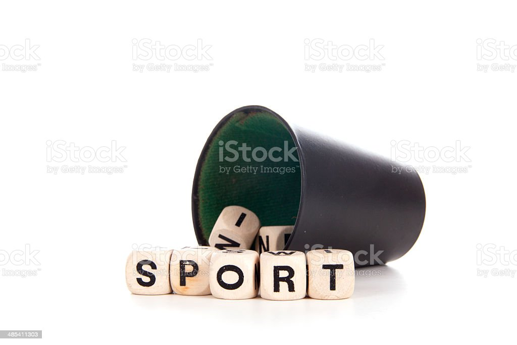 sport in dices royalty-free stock photo