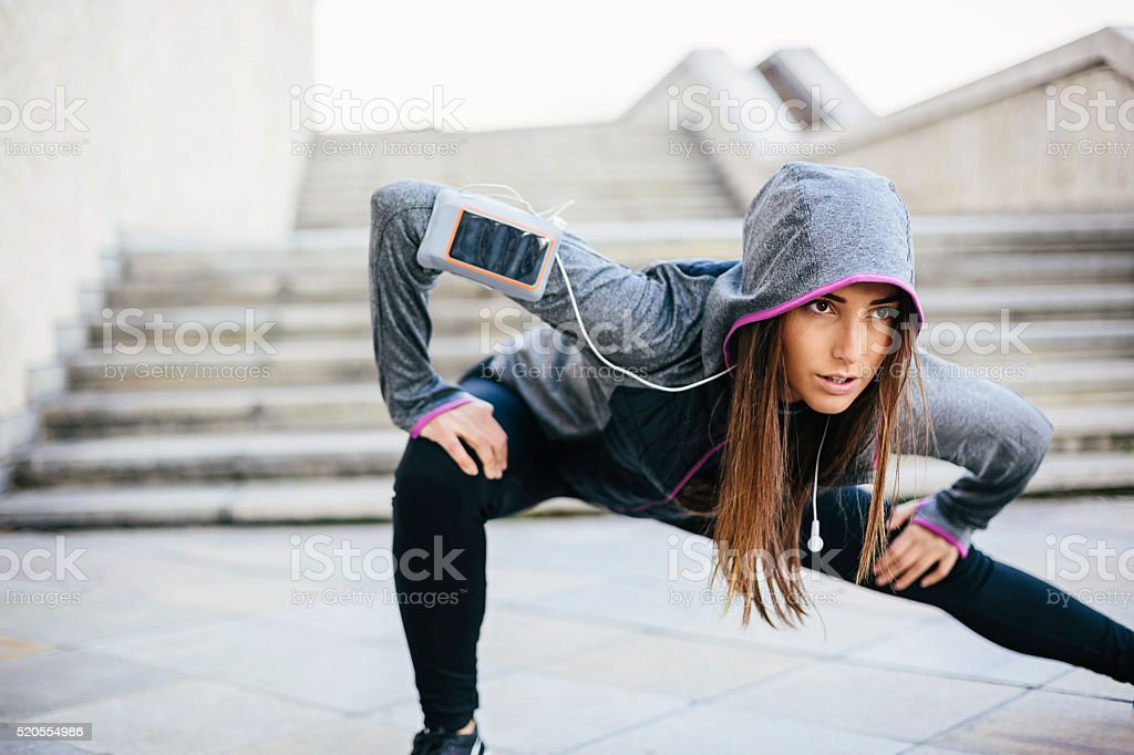Sport in the city stock photo