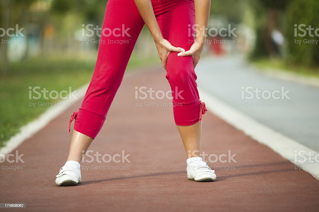 Sport injury royalty-free stock photo