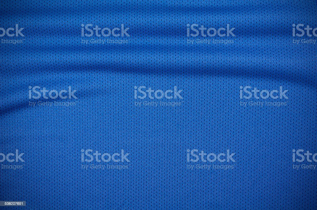 Sport jersey shirt clothing texture in blue stock photo