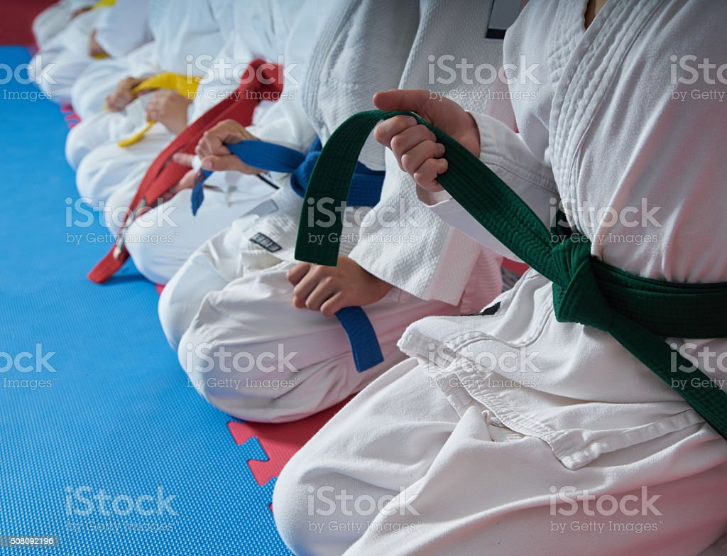 sport karate kids stock photo