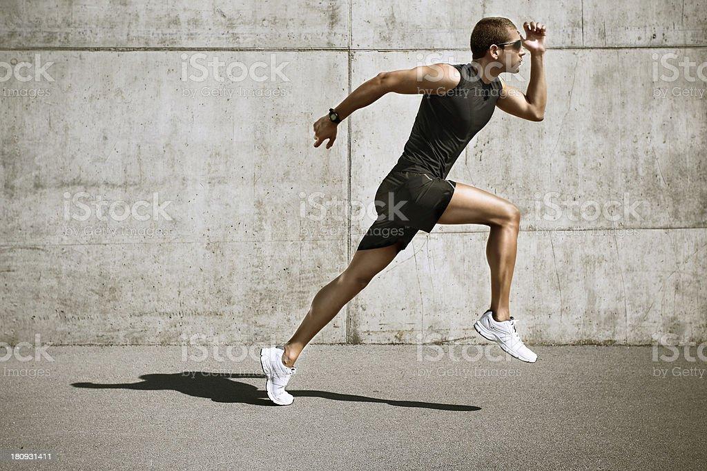 sport man starting running royalty-free stock photo