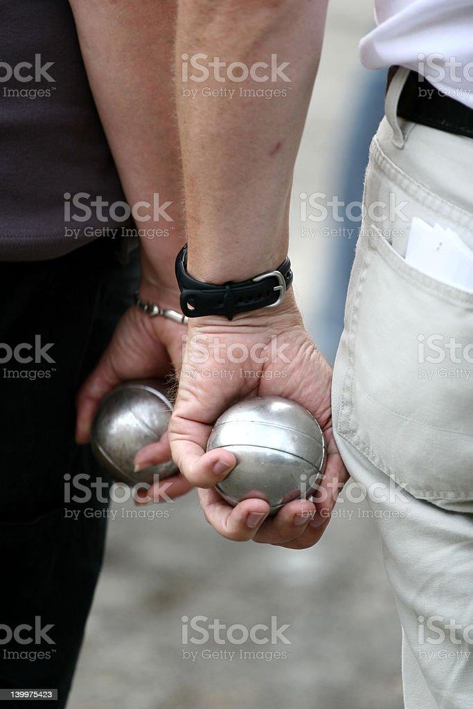 sport petanque stock photo