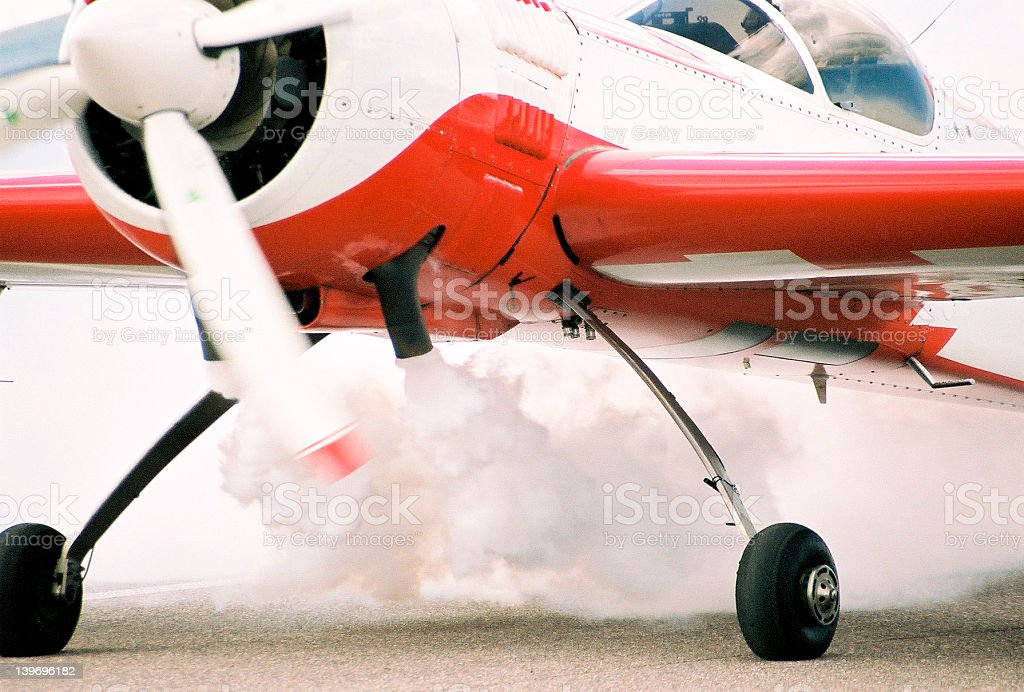 Sport plane in action royalty-free stock photo