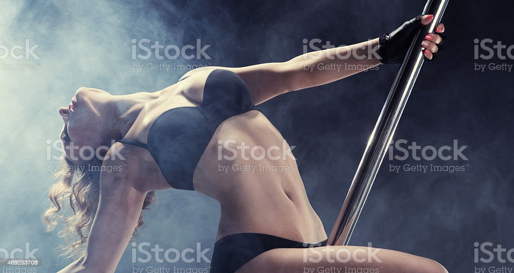 Sport. Pole dancer stock photo