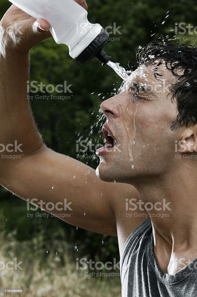 Sport refreshment with water royalty-free stock photo