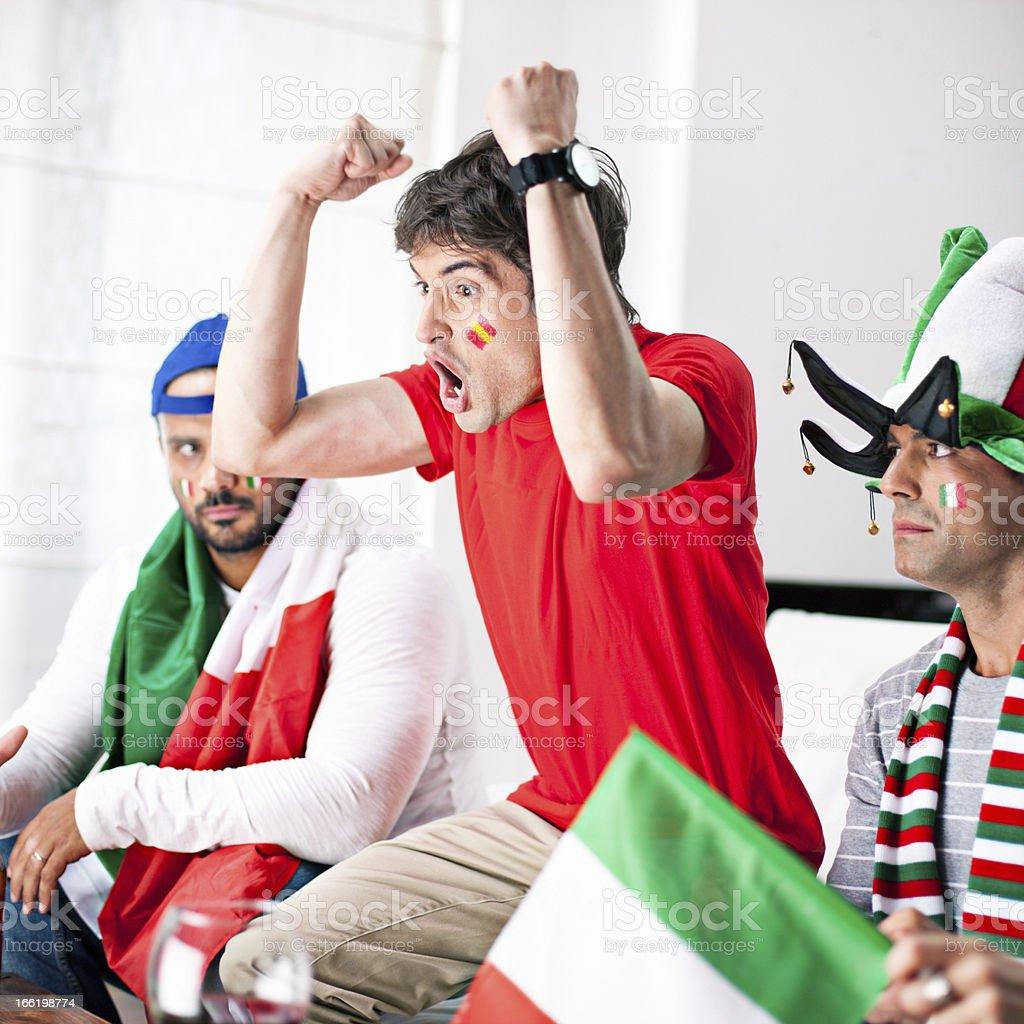 Sport rivalry royalty-free stock photo