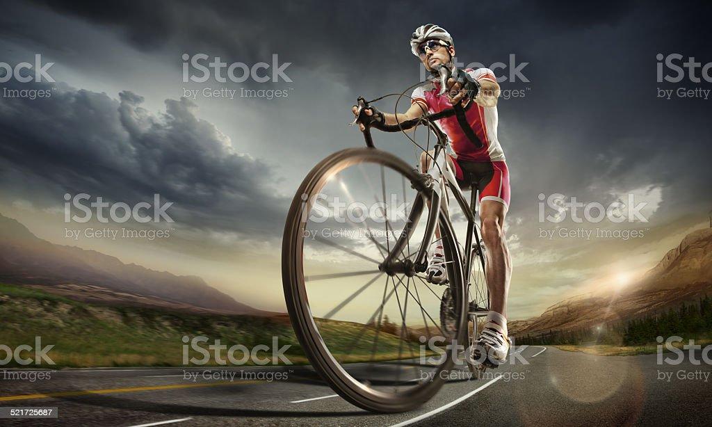 Sport. Road cyclist. stock photo