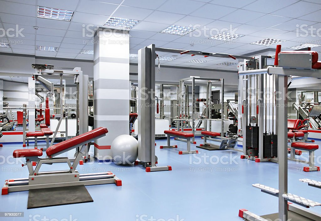 Sport room royalty-free stock photo