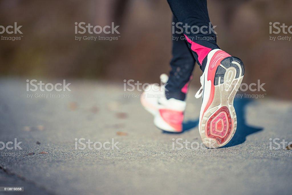 Sport runner stock photo