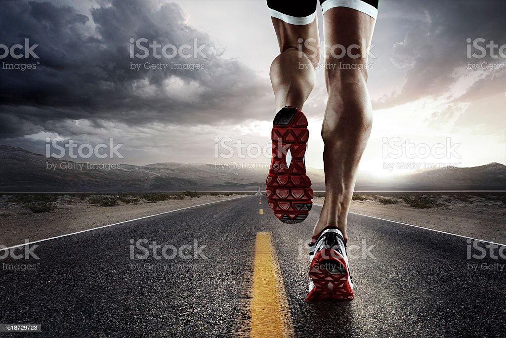 Sport. Runner royalty-free stock photo