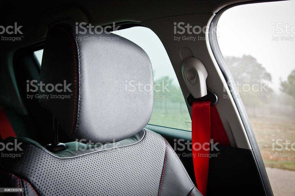 Sport seat in sport car stock photo