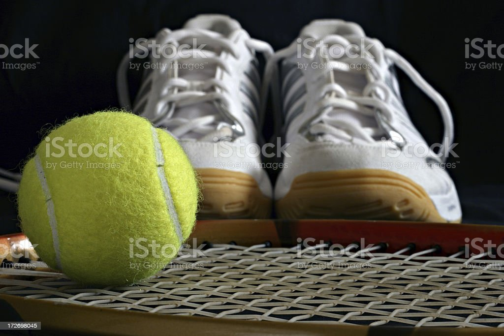 sport shoes and ball royalty-free stock photo