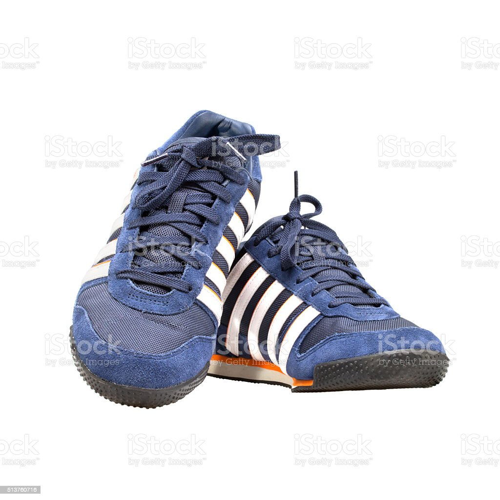 Sport shoes isolated on white background. stock photo