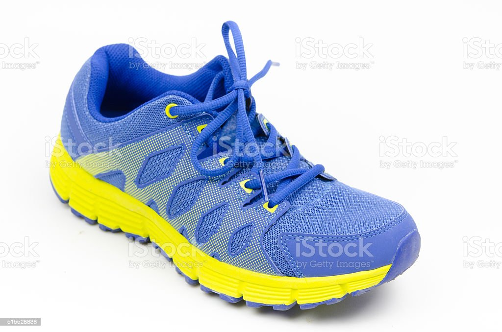 sport shoes on white background stock photo