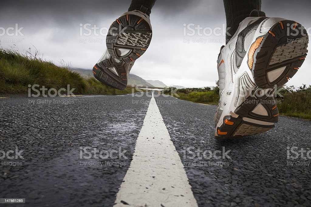 Sport shoes running Close-up stock photo