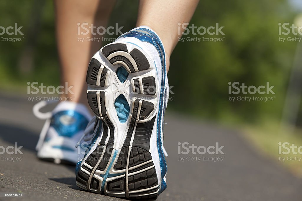 sport shoes running Close-up royalty-free stock photo