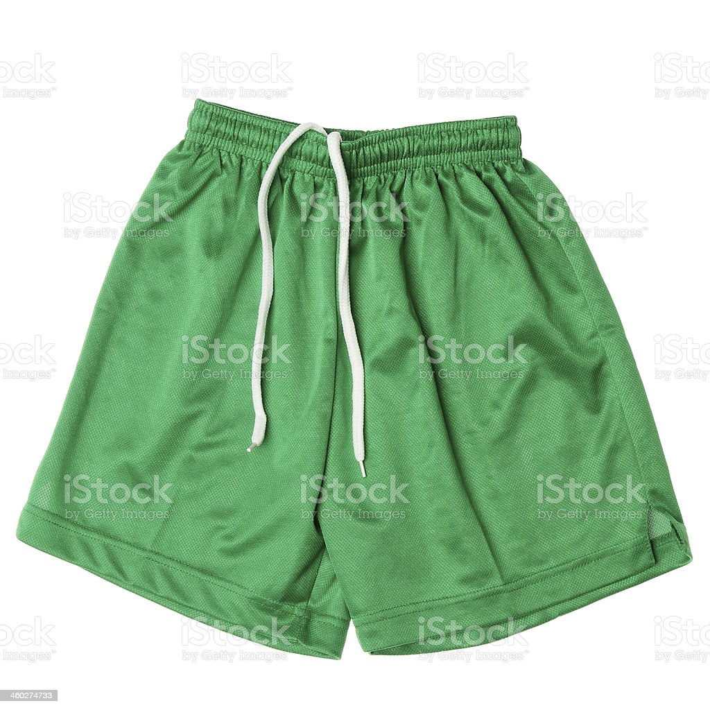 Sport shorts on a white background. stock photo