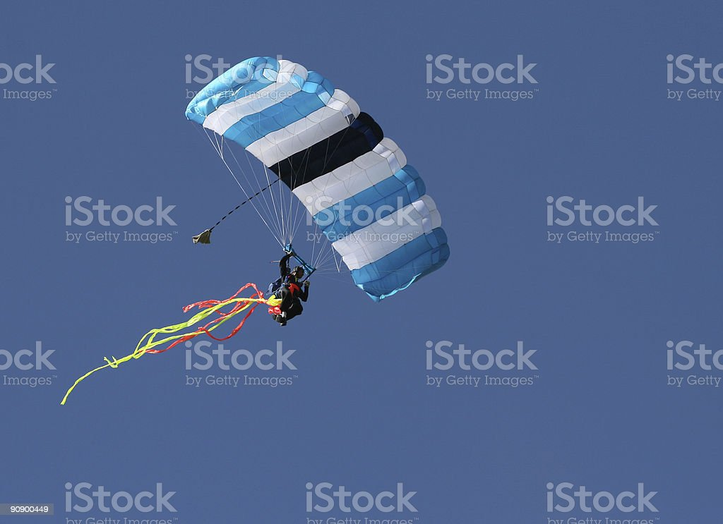 Sport skydiver parachutist royalty-free stock photo