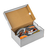 Sport sneakers in box