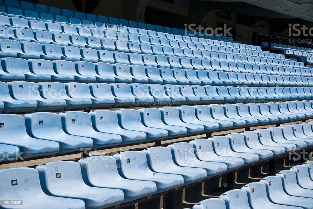 sport stadium seats royalty-free stock photo