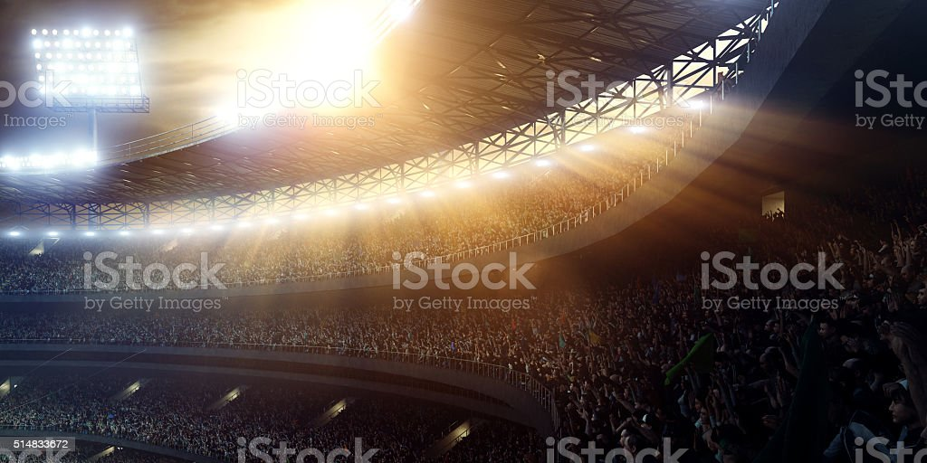 Sport stadium tribunes stock photo