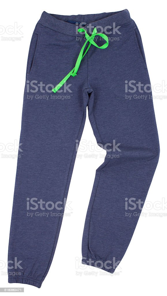 Sport sweatpants isolated on a white background stock photo